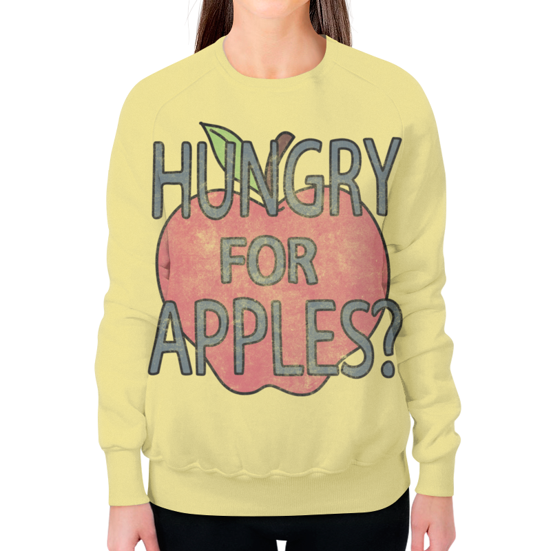 Свитшот женский с полной запечаткой Printio Hungry for apples? рик и морти hungry ghosts