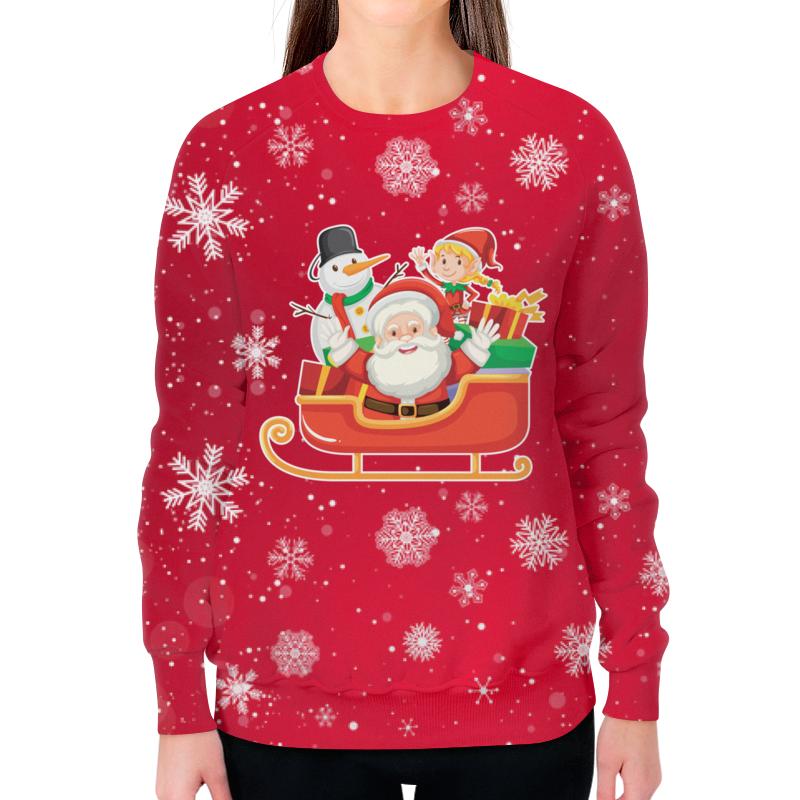 Свитшот женский с полной запечаткой Printio Merry christmas детский свитшот унисекс printio merry christmas