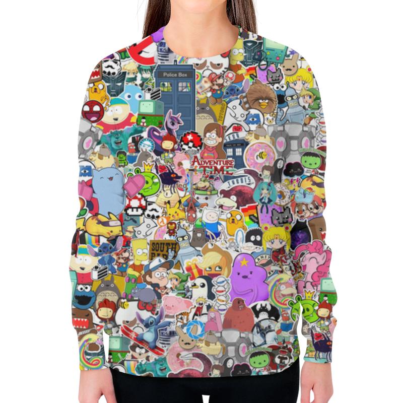 Свитшот женский с полной запечаткой Printio Stickers animal shaped stickers