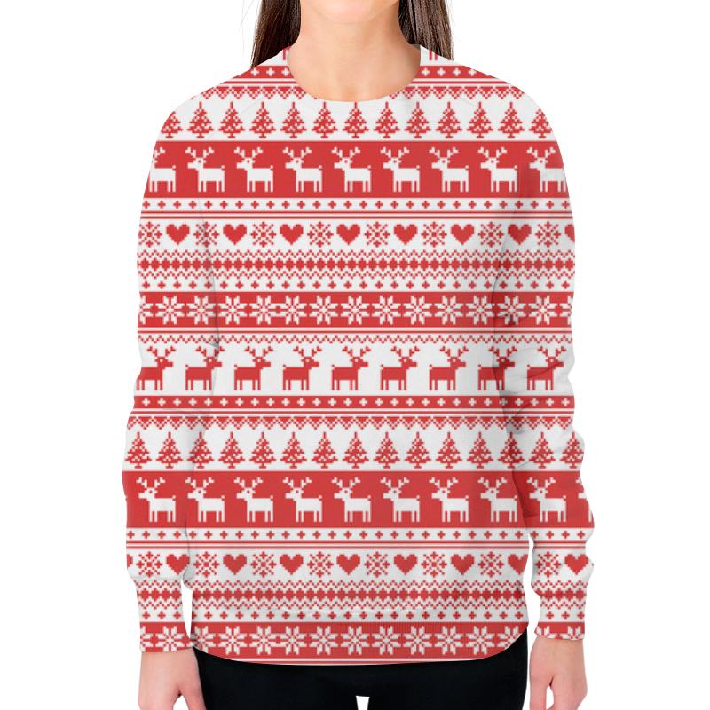 Свитшот женский с полной запечаткой Printio Свитер с оленями свитер свитер женский 2018 весной новый свитер свитер корейский случайный свитер моды с капюшоном трехмерной печати писем с надписью its1th31w черный 85 s page 9