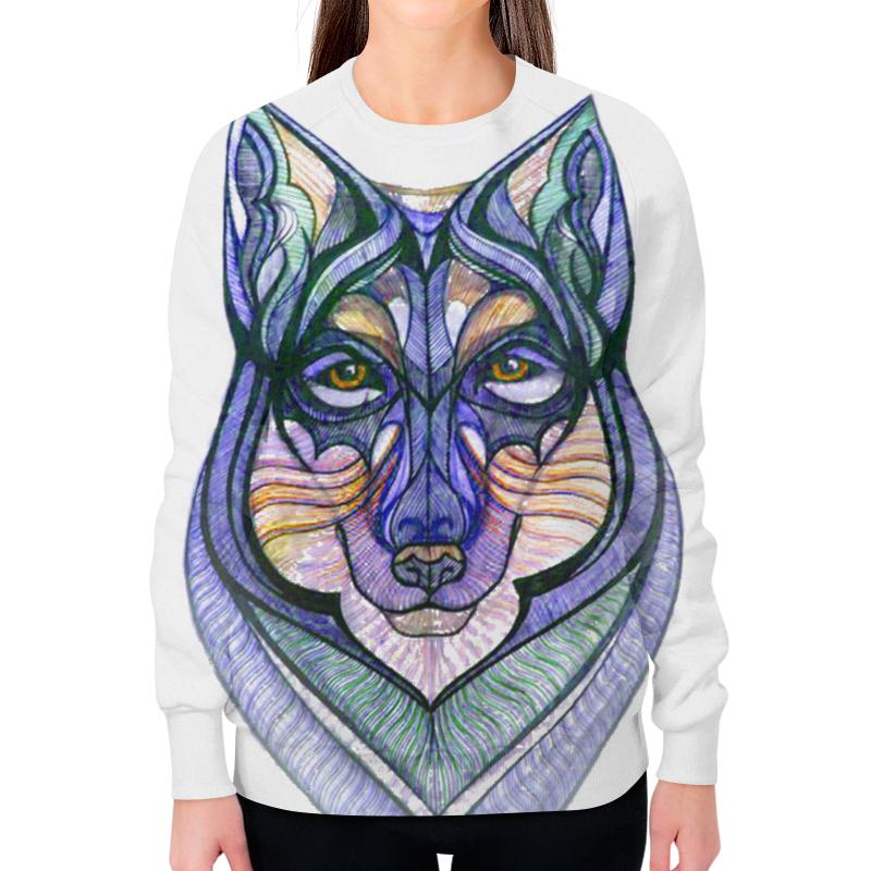 Свитшот женский с полной запечаткой Printio Волк графика борцовка с полной запечаткой printio волк графика