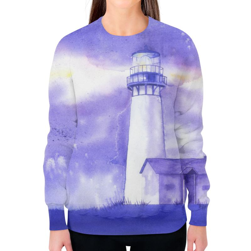 Свитшот женский с полной запечаткой Printio Фиолетовый маяк
