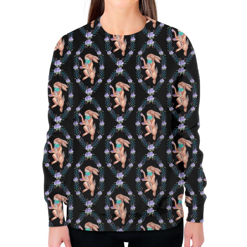 Свитшот женский с полной запечаткой Printio Кролик свитшот print bar кролик зомби