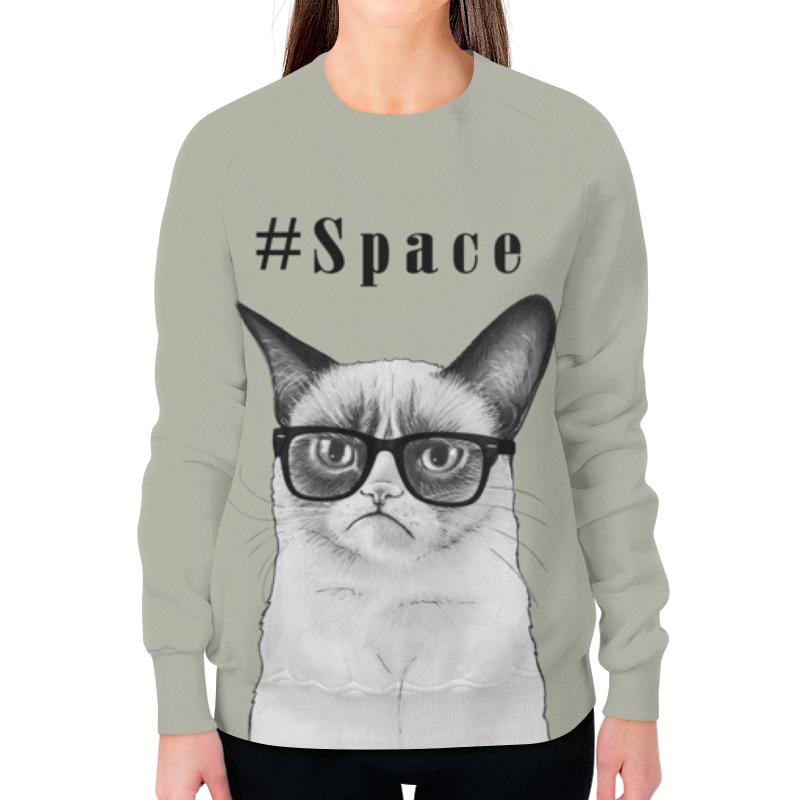 Фото - Свитшот женский с полной запечаткой Printio Космос свитшот унисекс с полной запечаткой printio алфавит