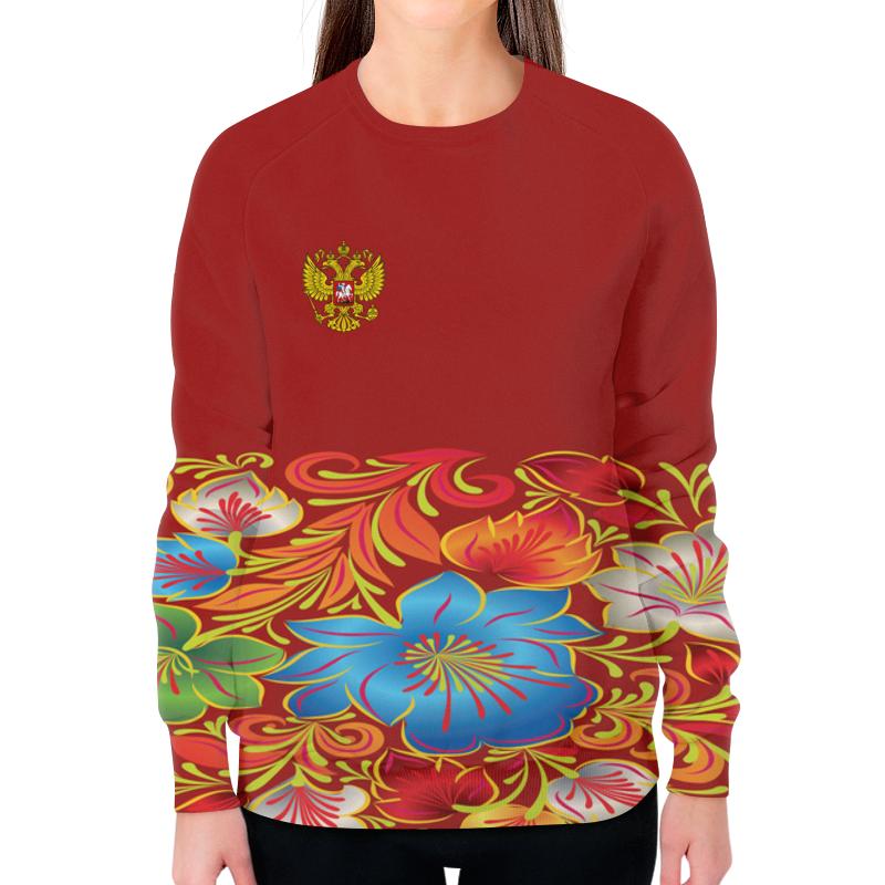Свитшот женский с полной запечаткой Printio Цветы цена