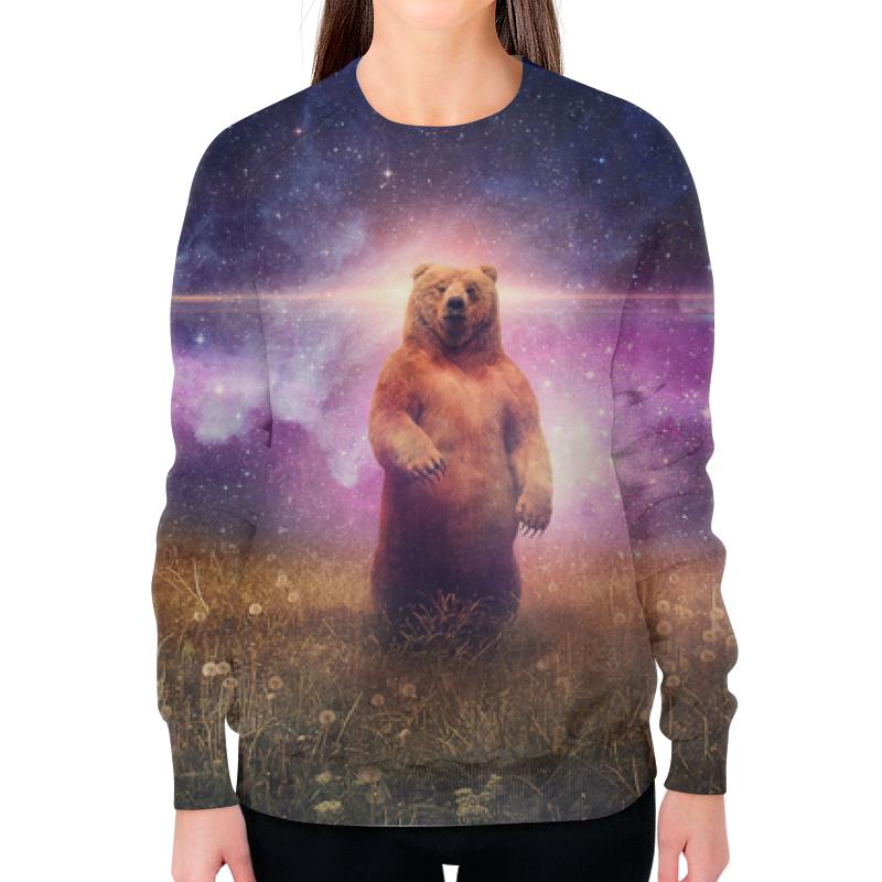 Свитшот женский с полной запечаткой Printio Медведь свитшот print bar медведь тед