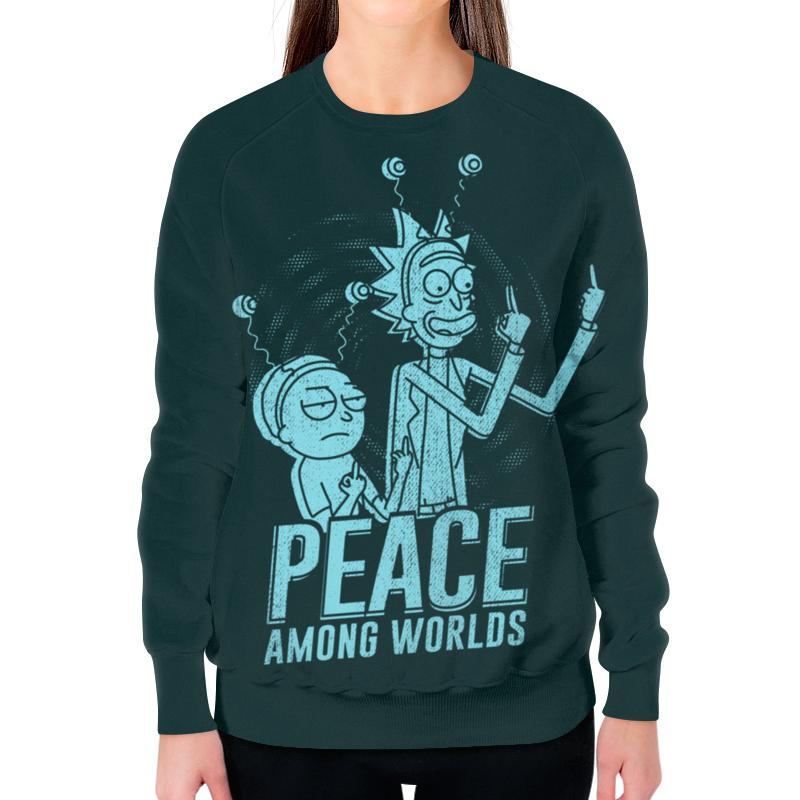 Свитшот женский с полной запечаткой Printio Рик и морти футболка с полной запечаткой для мальчиков printio peace among worlds рик санчез