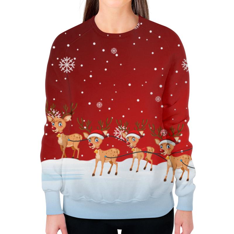 Свитшот женский с полной запечаткой Printio Новый год свитшот унисекс с полной запечаткой printio свитер с оленями 1