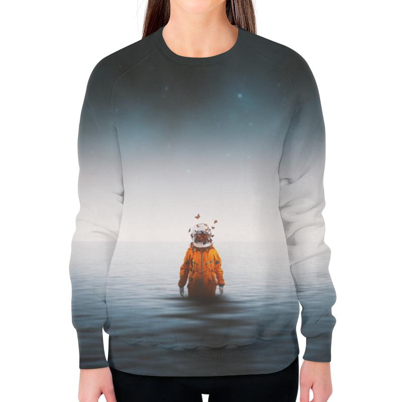 Свитшот женский с полной запечаткой Printio Space in ocean toys in space