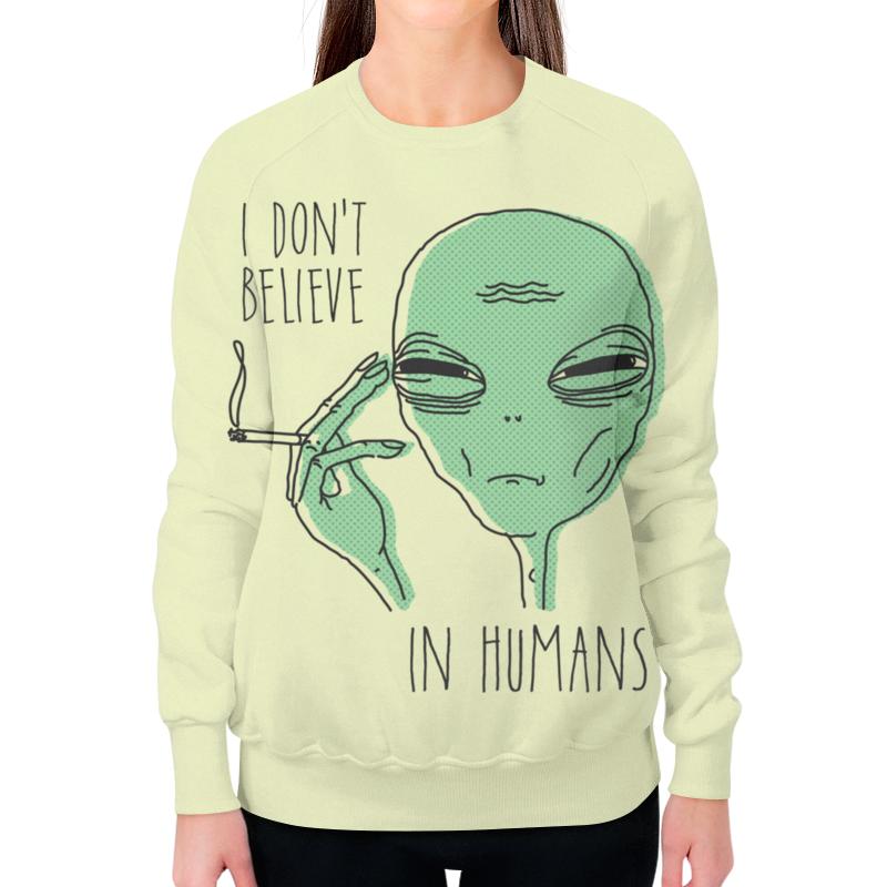 Свитшот женский с полной запечаткой Printio Инопланетянин футболка с полной запечаткой женская printio i believe in unicorns я верю в единорогов