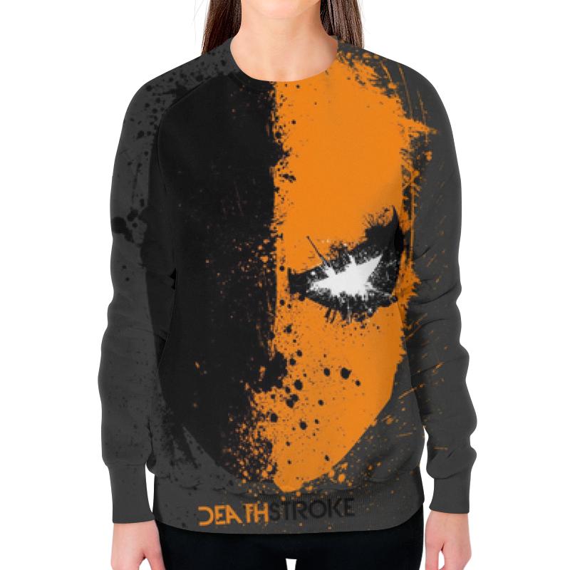 Свитшот женский с полной запечаткой Printio Death stroke (дефстроук) футболка с полной запечаткой для девочек printio дефстроук ликвидатор