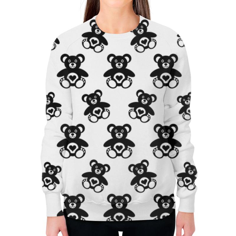 Свитшот женский с полной запечаткой Printio Черно-белые мишки майка print bar черно белые мишки