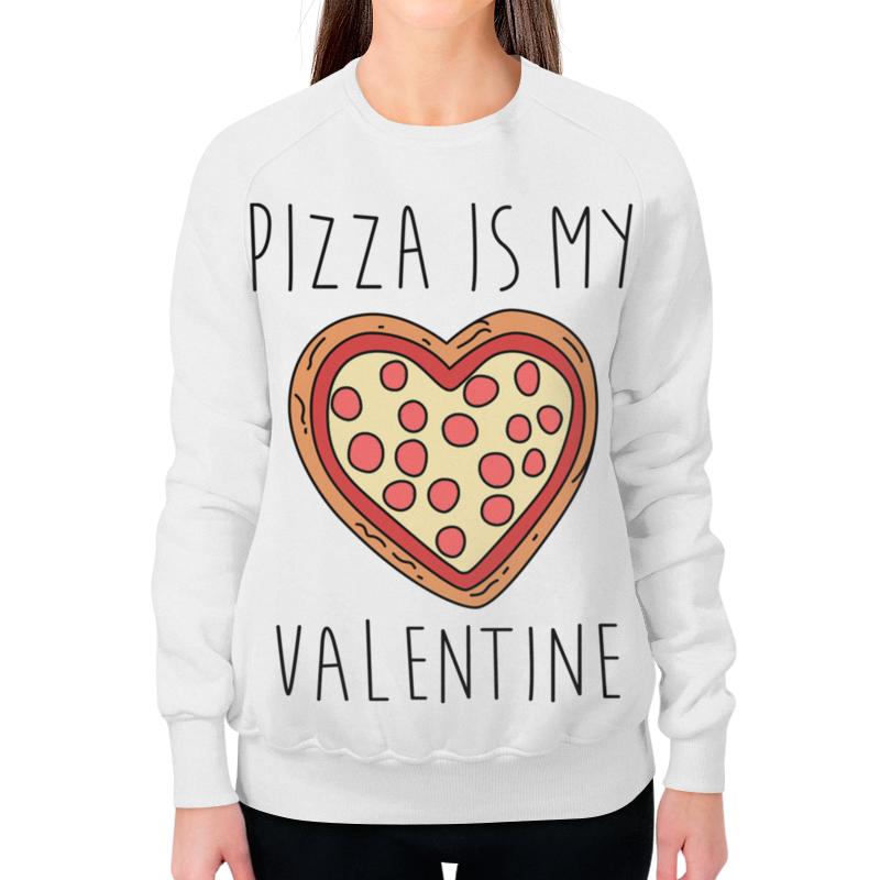 Свитшот женский с полной запечаткой Printio Пицца - мой валентин свитшот мужской с полной запечаткой printio пицца мой валентин