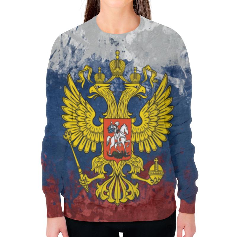 Свитшот женский с полной запечаткой Printio Россия женский гардероб