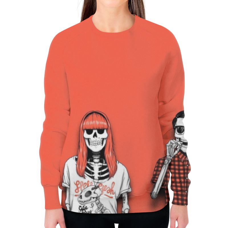 Свитшот женский с полной запечаткой Printio Bones brigade свитшот print bar bones art