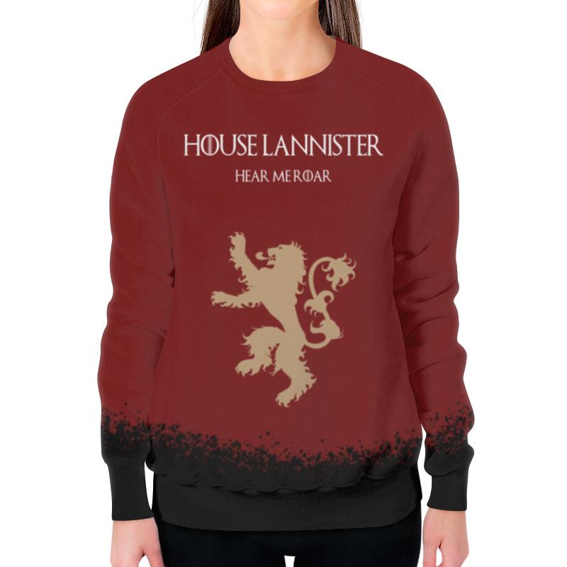 Свитшот женский с полной запечаткой Printio House lannister свитшот print bar house md