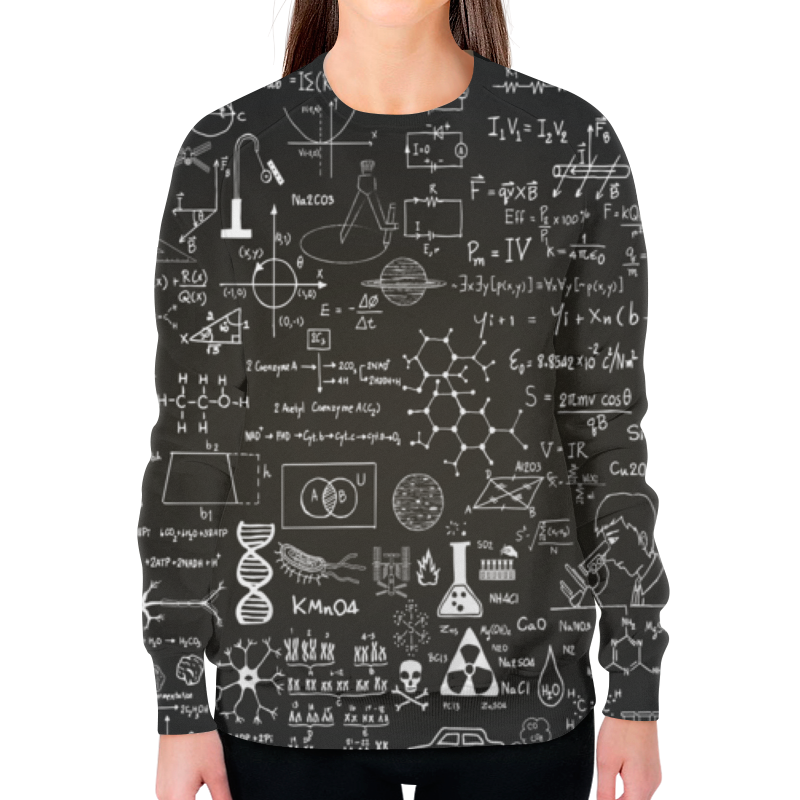 Свитшот женский с полной запечаткой Printio Наука женский гардероб