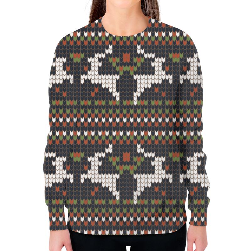 Свитшот женский с полной запечаткой Printio Олени свитшот унисекс с полной запечаткой printio свитер с оленями 1