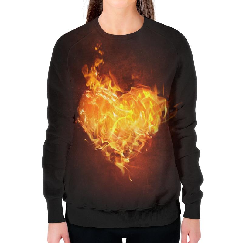 Printio Огненное сердце свитшот женский с полной запечаткой printio тоня против всех