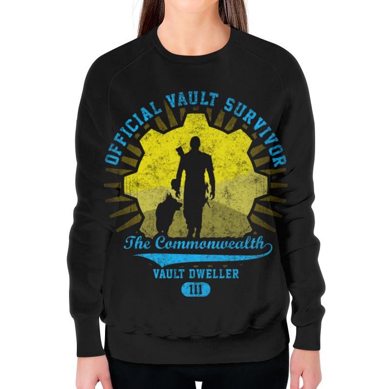 Свитшот женский с полной запечаткой Printio Fallout. vault dweller футболка wearcraft premium printio fallout vault dweller