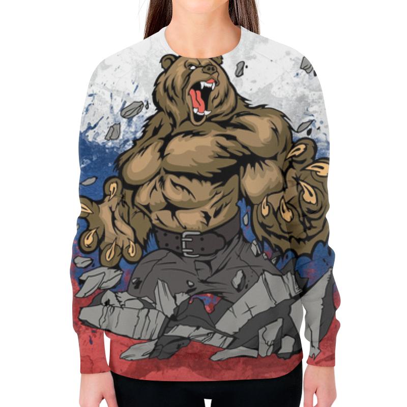 Свитшот женский с полной запечаткой Printio Русский медведь (russian bear) сумка printio russian bear русский медведь