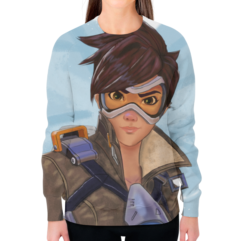 Printio Девушка (overwatch) свитшот женский с полной запечаткой printio overwatch