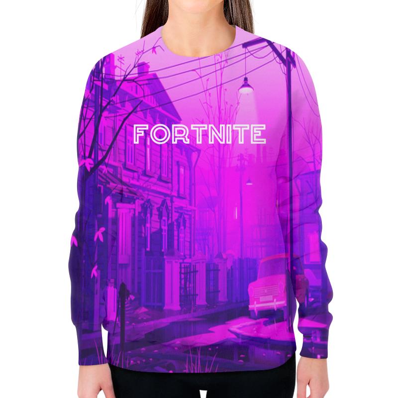 Свитшот женский с полной запечаткой Printio Fortnite цена и фото