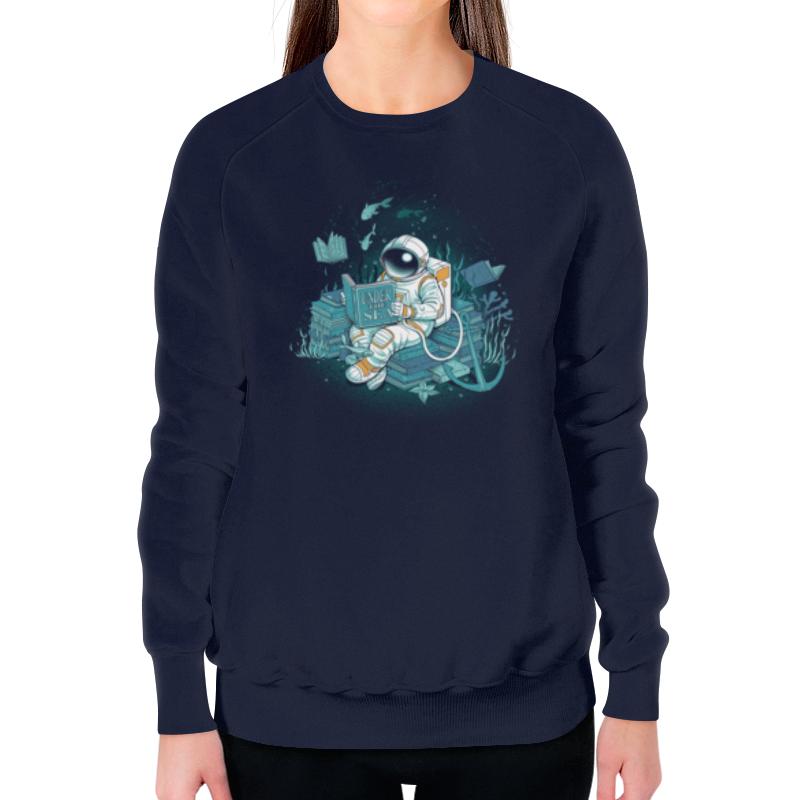 Свитшот женский с полной запечаткой Printio Морская глубина свитшот print bar мечты астронавта