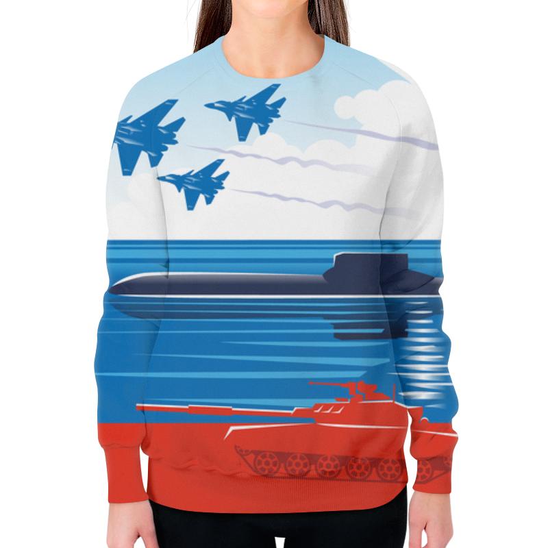 Свитшот женский с полной запечаткой Printio Вооружённые силы российской федерации футболка с полной запечаткой мужская printio вооружённые силы эмблема