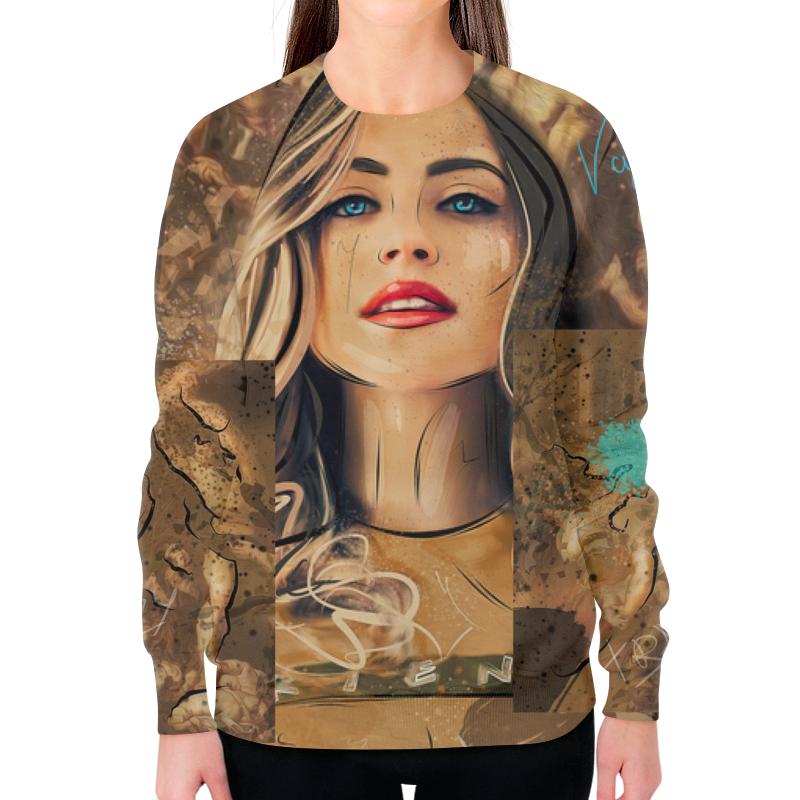 Свитшот женский с полной запечаткой Printio Tragedy свитшот женский с полной запечаткой printio портрет девушки рисунок