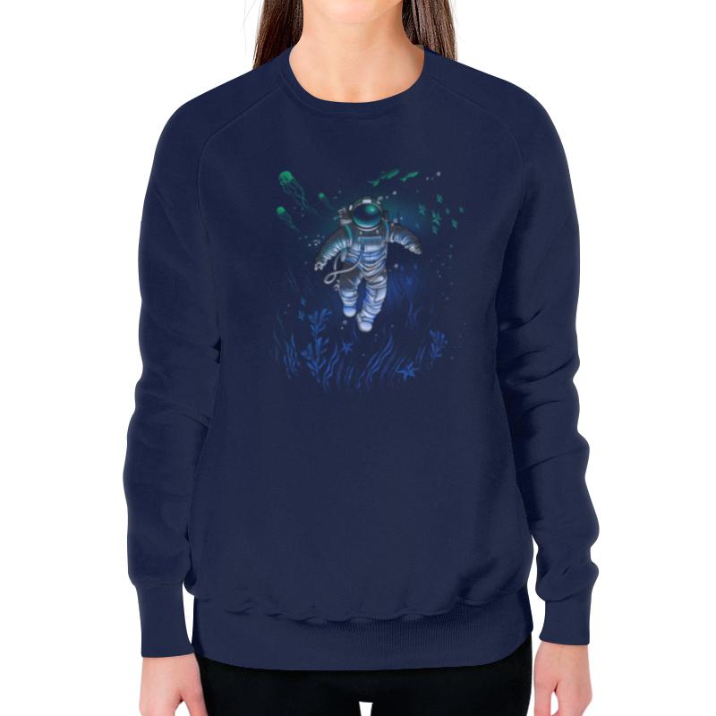 Свитшот женский с полной запечаткой Printio Космическая глубина свитшот print bar мечты астронавта