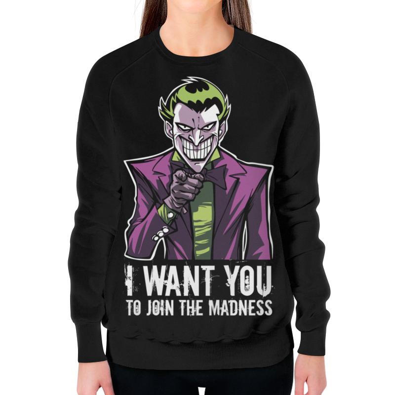 Printio Джокер свитшот женский с полной запечаткой printio джокер хит леджер