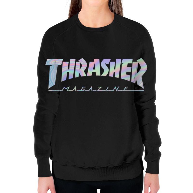 Свитшот женский с полной запечаткой Printio Thrasher holographic футболка трэшер алиэкспресс женская