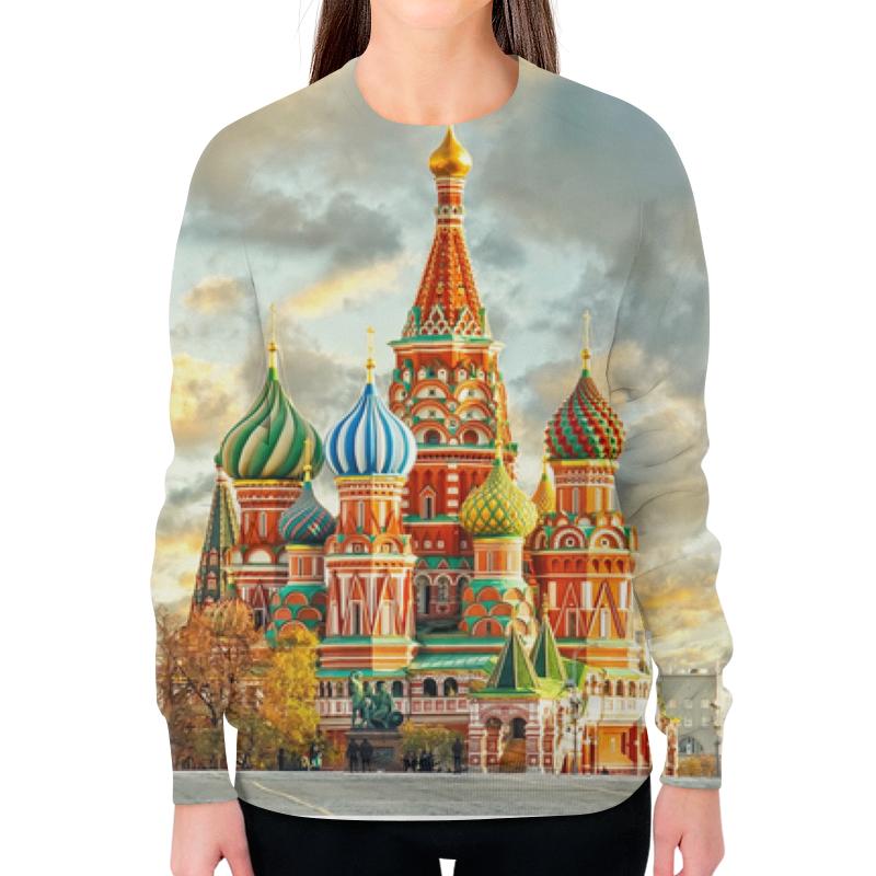 Свитшот женский с полной запечаткой Printio Москва (россия) майка классическая printio храм василия блаженного