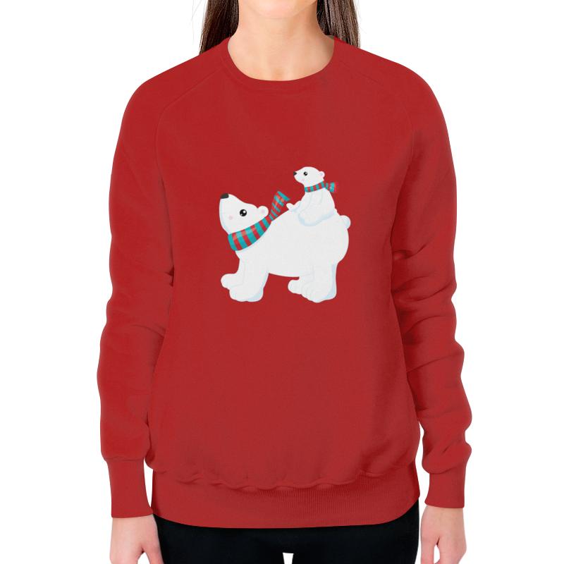 Свитшот женский с полной запечаткой Printio Белый медведь