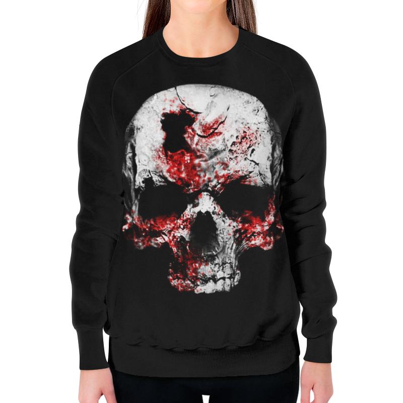Свитшот женский с полной запечаткой Printio Skull art свитшот print bar hardcore punk skull