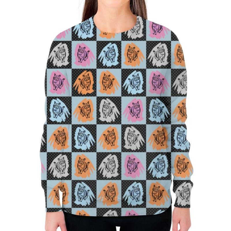 Фото - Свитшот женский с полной запечаткой Printio Коты в клеточку свитшот print bar коты