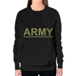 """Свитшот женский с полной запечаткой """"ArmyRussia"""" - армия, army, россия, 13, солдат"""