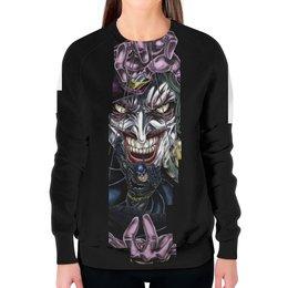"""Свитшот женский с полной запечаткой """"Joker & Batman"""" - комиксы, джокер, бэтмен, dc, dc comics"""