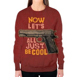 """Свитшот женский с полной запечаткой """"Оружие арт"""" - пистолет, арт, дизайн, оружие, ствол"""