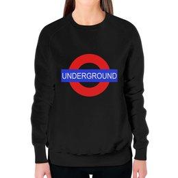 "Свитшот женский с полной запечаткой ""Underground"" - арт, стиль, london, underground"