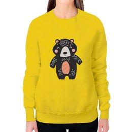 """Свитшот женский с полной запечаткой """"мишка"""" - животные, медведь, мишка, мульт, медвежонок"""