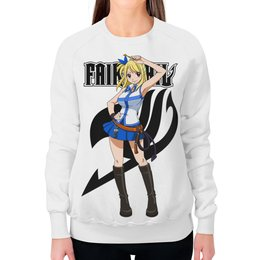 "Свитшот женский с полной запечаткой ""Люси. Fairy Tail"" - аниме, манга, fairy tail, хвост феи, люси"