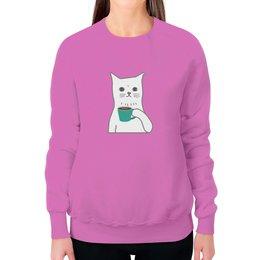 """Свитшот женский с полной запечаткой """"Котенок"""" - кот, кошка, животные, котенок, котик"""