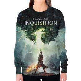"""Свитшот женский с полной запечаткой """"Dragon Age Inquisition"""" - rpg"""