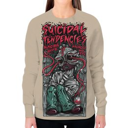"Свитшот женский с полной запечаткой ""Suicidal Tendencies band"" - heavy metal, рок музыка, thrash metal, хеви метал, suicidal tendencies"