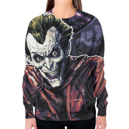 """Свитшот женский с полной запечаткой """"Joker"""" - joker, комиксы, джокер, comix"""