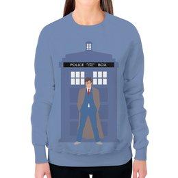 """Свитшот женский с полной запечаткой """"Доктор Кто и ТАРДИС / Doctor Who & TARDIS"""" - doctor who, tardis, доктор кто, тардис, автоские свитшоты"""
