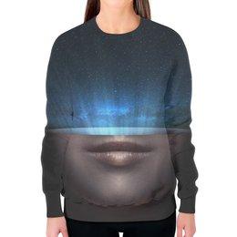 """Свитшот женский с полной запечаткой """"Сила Вселенной"""" - space, звезды, космос, наука, thespaceway"""