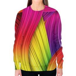 """Свитшот женский с полной запечаткой """"Абстракция"""" - узоры, цвет, абстракция, абстракционизм, арт дизайн"""